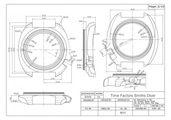 Smiths Diver PRS-68 Case Drawing
